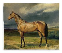 Abdul Medschid The Chestnut Arab Horse Fleece Blanket