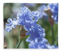 Abiqua Falls 1. The Beauty Of Irises Fleece Blanket
