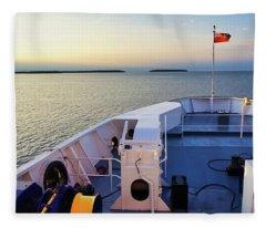 Aboard The Chi-cheemaun Fleece Blanket