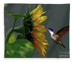 Nectar With Insect Fleece Blanket