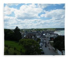 Above Arromanches-les-bains Fleece Blanket