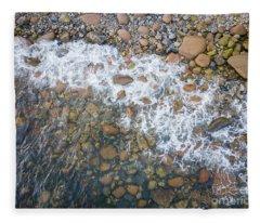Above Little Hunters Beach Fleece Blanket