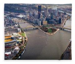 Above Pittsburgh In  Color  Fleece Blanket