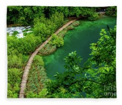 Above The Paths At Plitvice Lakes National Park, Croatia Fleece Blanket