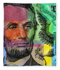 Abraham Lincoln - $5 Bill Fleece Blanket