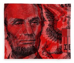 Abraham Lincoln Pop Art Fleece Blanket
