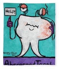 Abscessed Tooth Fleece Blanket