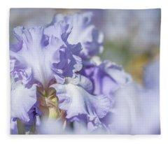 Absolute Treasure 1. The Beauty Of Irises Fleece Blanket