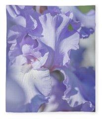 Absolute Treasure Closeup 2. The Beauty Of Irises Fleece Blanket