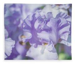 Absolute Treasure Closeup. The Beauty Of Irises Fleece Blanket