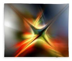 Abstract 060310a Fleece Blanket