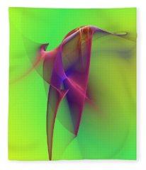 Abstract 091610 Fleece Blanket
