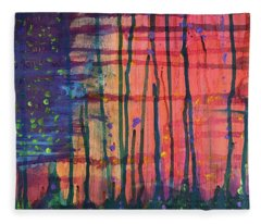 Abstract 1 Fleece Blanket