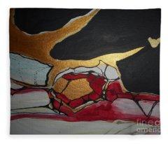 Abstract-11 Fleece Blanket