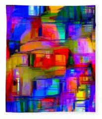 Abstract 1293 Fleece Blanket