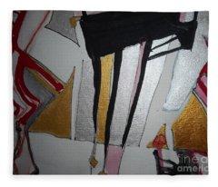 Abstract-13 Fleece Blanket