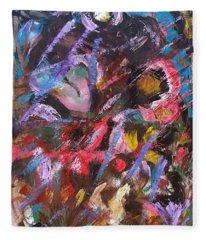 Abstract 2 Fleece Blanket