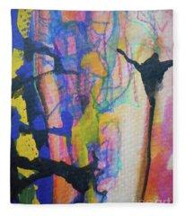 Abstract-3 Fleece Blanket