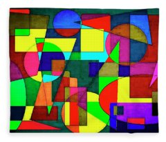 Abstract 4e Fleece Blanket