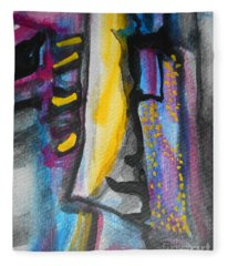 Abstract-8 Fleece Blanket