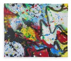 Abstract-9 Fleece Blanket