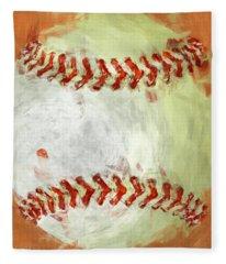 Abstract Baseball Fleece Blanket