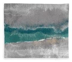 Abstract Beach Landscape- Art By Linda Woods Fleece Blanket