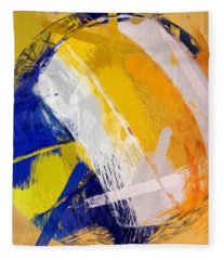 Abstract Beach Volleyball Fleece Blanket