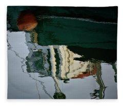 Abstract Boat Reflection II Fleece Blanket
