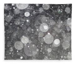 Abstract Branches In Snow  Fleece Blanket