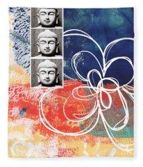 Abstract Buddha Fleece Blanket