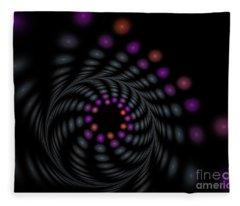 Abstract Carousel Fleece Blanket