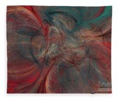 Abstract Chaotica 10 Fleece Blanket