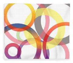 Abstract Circles No 1 Fleece Blanket