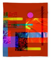 Collage Abstract 5 Fleece Blanket