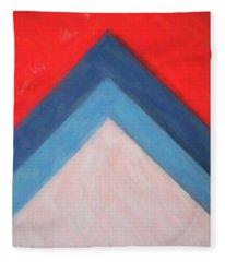 Abstract Colors  In Watercolors  4 Fleece Blanket