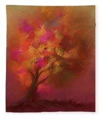 Abstract Colourful Tree Fleece Blanket