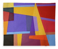 Abstract Composition 7 Fleece Blanket