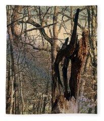 Abstract Dead Tree Fleece Blanket