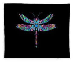 Abstract Dragonfly Fleece Blanket