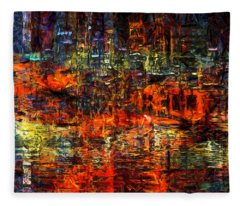 Abstract Evening Fleece Blanket