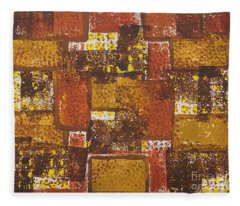 Abstract_ Fall  Fleece Blanket