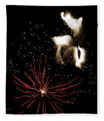 Abstract Fireworks IIi Fleece Blanket