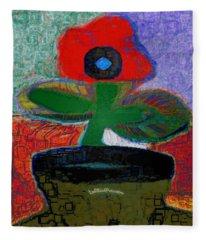 Abstract Floral Art 108 Fleece Blanket