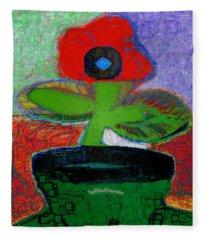 Abstract Floral Art 109 Fleece Blanket