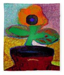 Abstract Floral Art 116 Fleece Blanket
