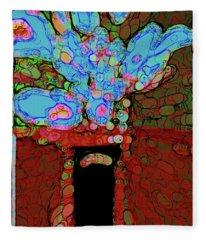 Abstract Floral Art 152 Fleece Blanket