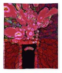 Abstract Floral Art 160 Fleece Blanket