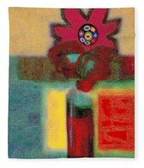 Abstract Floral Art 197 Fleece Blanket