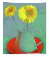 Abstract Floral Art 300 Fleece Blanket